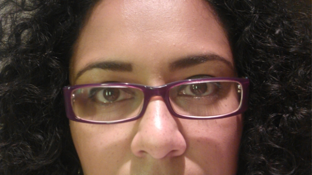 Quick corporate no mascara with glasses