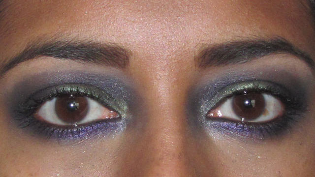 Purple and Green Party Eyes open