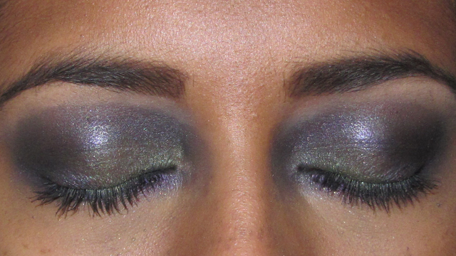 Purple and Green Party Eyes closed