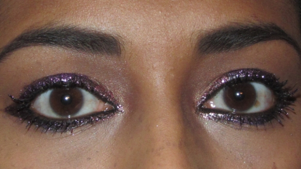 Pink and Purple Glitter Party Princess Eyes