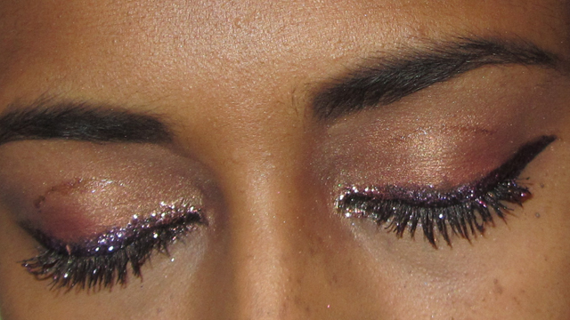 Pink and Purple Glitter Party Princess Eyes  - should have tried the translucent powder again