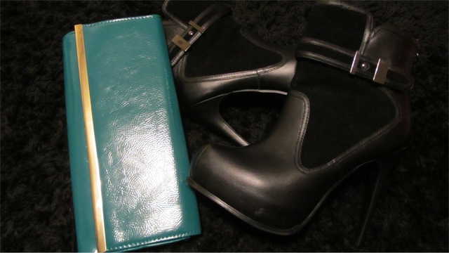 Betty Jackson Black boots and Accessorise bag
