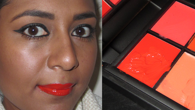 The red colour from the Sleek Siren 859 Lip Palette