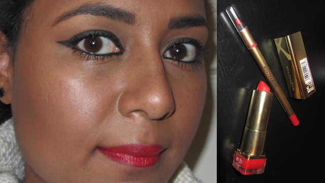 Max Factor Colour Elixir Lip Liner in 10 Red Rush with Max Factor Colour Elixir Lipstick in 715 Ruby Tuesday