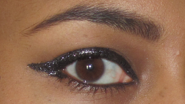 New Year's Eve Sparkle eye with glitter