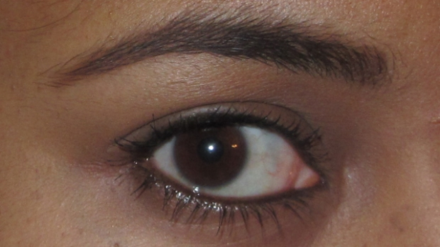 Warm Brown is to pale for me (with Benefit They're Real and Lancôme Le Crayon Khol on the waterline)