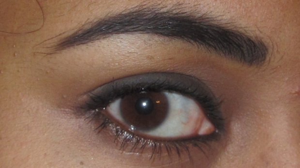 Carbon on my brows and upper lashline - very dark! (with Benefit They're Real and Lancôme Le Crayon Khol on the waterline)