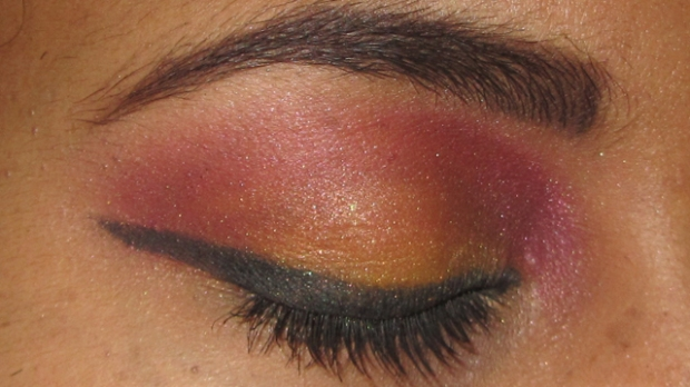 Inspired: Yellow and Pink-Purple Eyes Shimmer