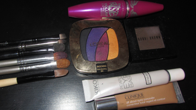 Review: L'Oreal Shocking Les Ombres Color Riche Eyeshadow Quad in Disco Smoking kit
