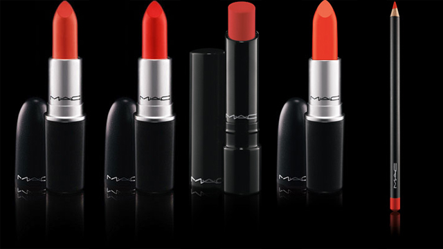 MAC So Chaude, Lady danger, Korean Candy, Morange and What a blast lip pencil