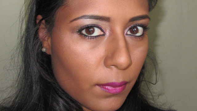 Full face with flash - Hot Pink with Anita Grant and Kiko