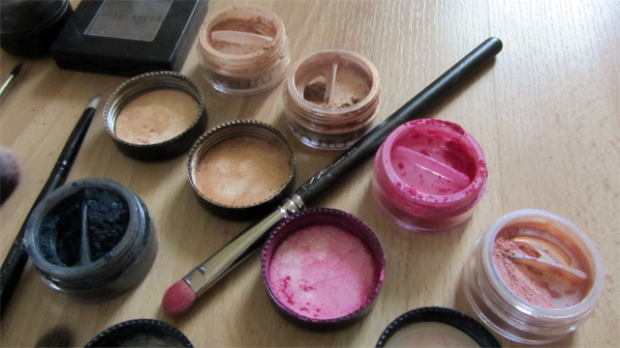 Close-up of eyeshadows