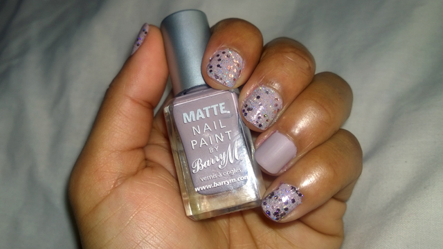 Barry M Nail Paints in Matte Vanilla and Rose Quartz