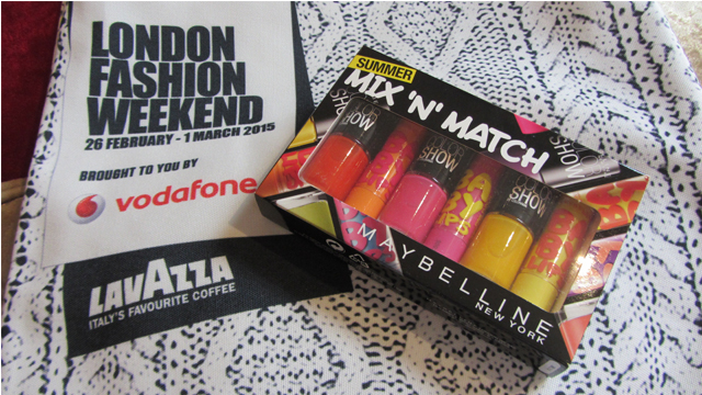 London Fashion Weekend Maybelline Goodies