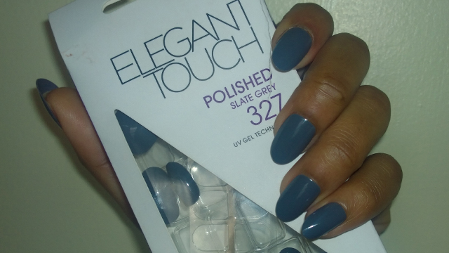 Elegant Touch Nails in Polished Slate Grey 327