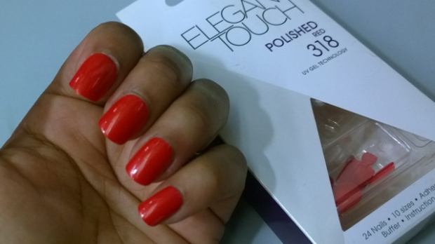 Elegant Touch Nails in Polished Red 318