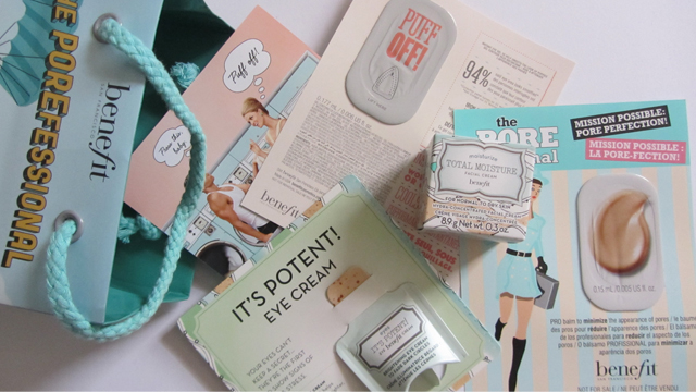 Benefit Makeup Lesson Skincare Samples