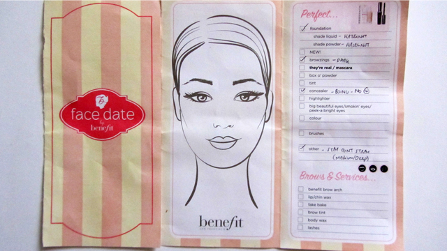 Benefit Makeup Lesson