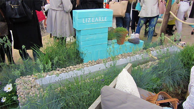 Queuing for the vending machine at Liz Earle