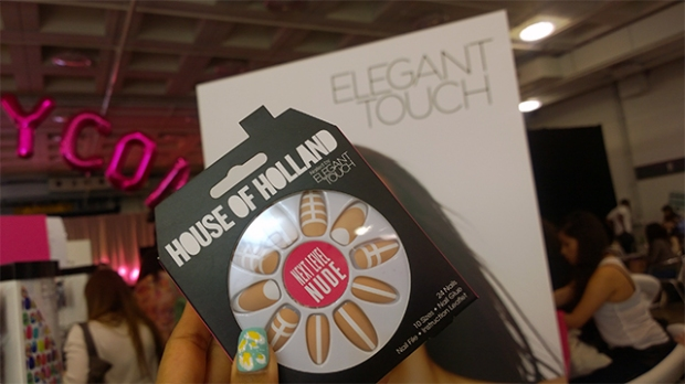 Waiting to get my House of Holland by Elegant Touch nails applied