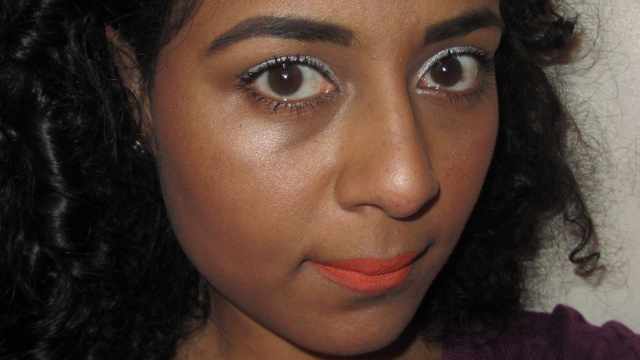 I Don't Care What You Think Orange and White - full face