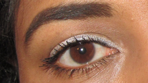 """Eye close-up from """"I Don't care what you think orange and white"""""""