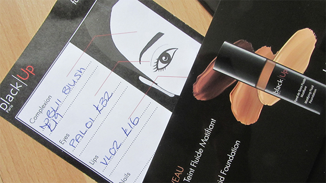 Face chart and foundation