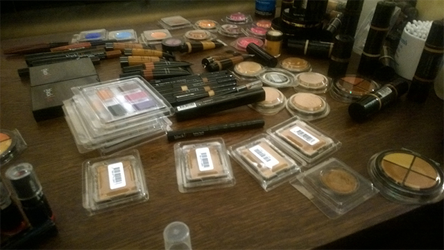 The make-up desk