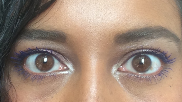Black|Up Volumizing and Lengthening Mascara in Bleu/Blue - look how bright it is!