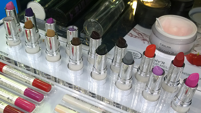 Some of the Cailyn lipsticks - check out the grey shade!