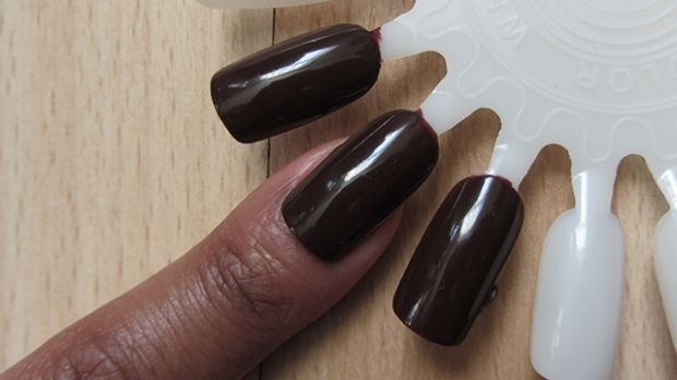 Black Up Nail Lacquer in 07 - not my nude by gorgeous all the same.