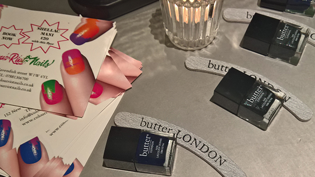 Everyone received a bottle of Butter London nail polish and a Butter London nail file