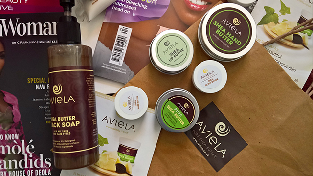 Afro Hair & Beauty Live 2016 Haul Aviela shea butter