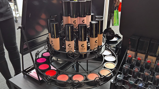 Cache Cosmetics highlighters, foundations and blushers The Afro Hair and Beauty Live 2016 Show