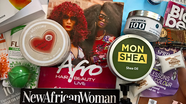 Afro Hair & Beauty Live 2016 Haul mon shea shea oil natures heart nw10 body butter