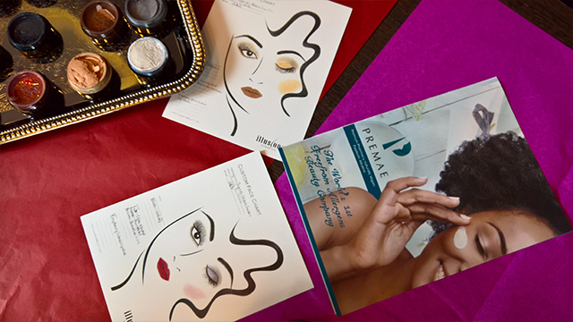 Illusions cosmetics joclare pr janice denise tunnell eye dust face chart premae skincare