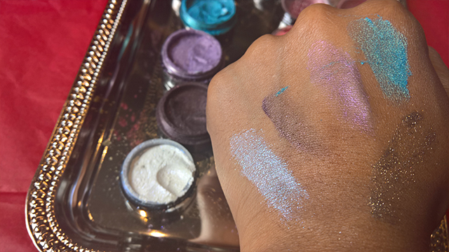 Illusions cosmetics joclare pr janice denise tunnell eye dust swatch swatches eyeshadow