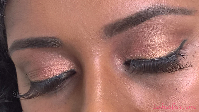 English Rose Bridal/Wedding Makeup Tutorial for darker/black/brown skin: eyes and brows