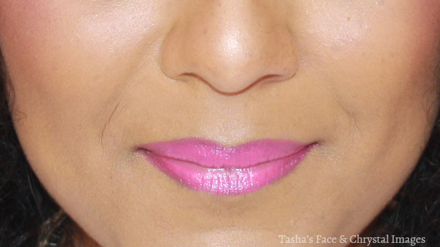 close-up pink lips