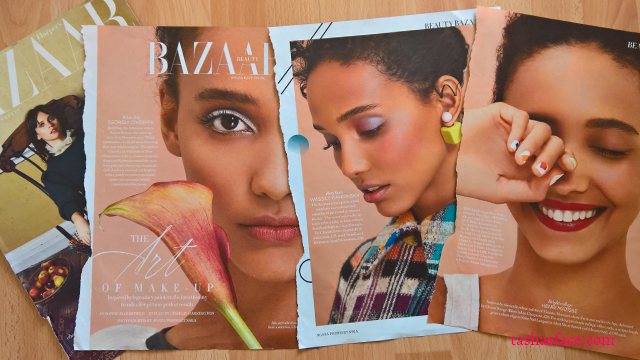 diversity beauty makeup harper's bazaar curly hair black model