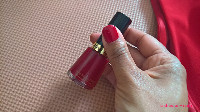 red dress revlon nail enamel valentine darker skin dress glossybox mistletoe kisses