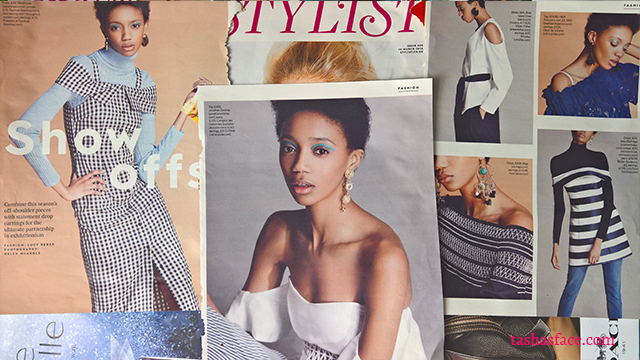 stylist magazine, diversity, fashion, model, beauty, black skin, brown beauty, darker skin