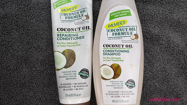 Palmer's Coconut Oil Formula Shampoo Conditioner tasha's face tashas